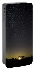 Portable Battery Charger featuring the photograph Starry Sky Over Virginia Farm by Lori Coleman