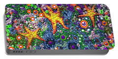 Portable Battery Charger featuring the digital art Stars by Adria Trail