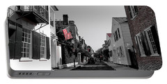 Stars And Stripes- Church St Charleston Sc Portable Battery Charger
