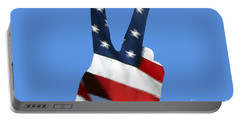 Portable Battery Charger featuring the photograph Stars And Stripes Peace Sign .png by Al Powell Photography USA