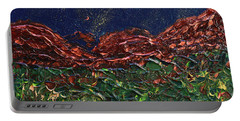 Stars Falling On Copper Moon Portable Battery Charger by Donna Blackhall