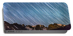 Stars Raining Down On The Colorado Indian Peaks Portable Battery Charger