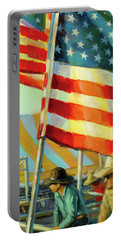Stars, Stripes, And Cowboys Forever Portable Battery Charger
