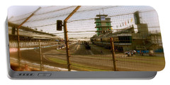 Start Finish Indianapolis Motor Speedway Portable Battery Charger