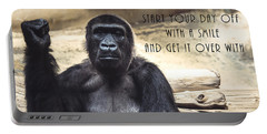 Portable Battery Charger featuring the digital art Start Your Day Off With A Smile by Anthony Murphy