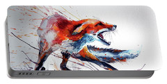 Startled Red Fox Portable Battery Charger