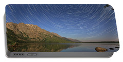 Startrails Over Jenny Lake Portable Battery Charger