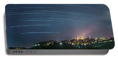 Startrails Over San Gimignano Portable Battery Charger