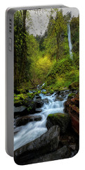 Starvation Creek And Falls Portable Battery Charger by Ryan Manuel