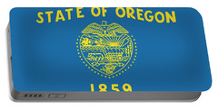 State Flag Of Oregon Portable Battery Charger by American School