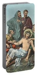 Station Xi Jesus Is Nailed To The Cross Portable Battery Charger