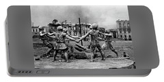 Statue Of Children After Nazi Airstrikes Center Of Stalingrad 1942 Portable Battery Charger