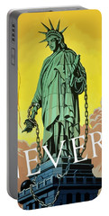 Statue Of Liberty In Chains -- Never Portable Battery Charger by War Is Hell Store
