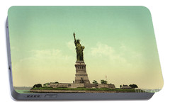 Statue Of Liberty, New York Harbor Portable Battery Charger by Unknown