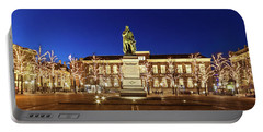 Portable Battery Charger featuring the photograph Statue Of William Of Orange On The Plein - The Hague by Barry O Carroll