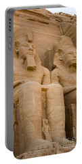 Statues At Abu Simbel Portable Battery Charger by Darcy Michaelchuk