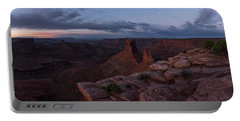 Statues In The Desert Portable Battery Charger by Dustin LeFevre