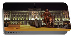 Portable Battery Charger featuring the photograph Statues View Of Buckingham Palace by Terri Waters