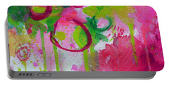 Portable Battery Charger featuring the painting Steal My Breath by Tracy Bonin