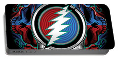 Steal Your Face - Ilustration Portable Battery Charger