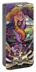 Portable Battery Charger featuring the painting Steal Your Mermaids by David Sockrider
