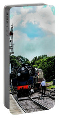 Steam Train Approaching Portable Battery Charger