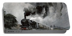 Steam Train At Garsdale - Cumbria Portable Battery Charger by John Cooke