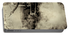 Portable Battery Charger featuring the photograph Steam Train Series No 4 by Clare Bambers