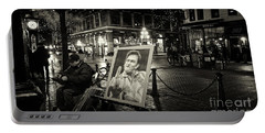 Portable Battery Charger featuring the photograph Steamin' Johnny by Cameron Wood
