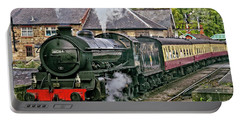 Steaming Out Of Grosmont Station Portable Battery Charger