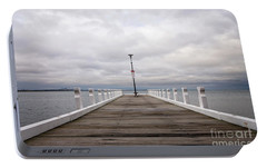 Portable Battery Charger featuring the photograph Steampacket Quay by Linda Lees