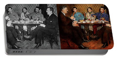 Portable Battery Charger featuring the photograph Steampunk - Bionic Three Having Tea 1917 - Side By Side by Mike Savad