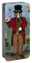 Steampunk Cat Guy - Victorian Cat Portable Battery Charger