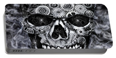 Steampunk Skull Portable Battery Charger