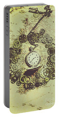 Steampunk Travel Map Portable Battery Charger