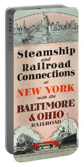Steamship And Railroad Connections At New York Portable Battery Charger