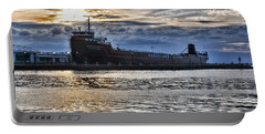 Portable Battery Charger featuring the photograph Steamship William G. Mather - 1 by Mark Madere