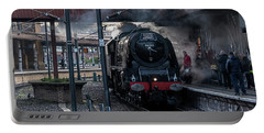 Stean Departure At York Portable Battery Charger by David  Hollingworth