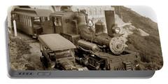 Stean Engine No. 8 Mount Tamalpais Circa 1920 Portable Battery Charger