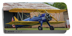 Stearman And Old Hangar Portable Battery Charger