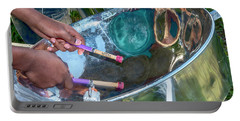 Portable Battery Charger featuring the photograph Steel Pan by Rachel Lee Young