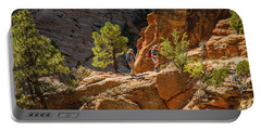 Steeply Up The Canyon Portable Battery Charger