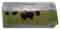 Steers In The Pasture Portable Battery Charger