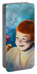 Stefi- My Trip To Holland - Red Headed Angel Portable Battery Charger