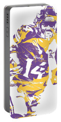 Stefon Diggs Minnesota Vikings Pixel Art 2 Portable Battery Charger
