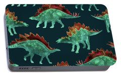 Stegosaurus Portable Battery Charger by Varpu Kronholm
