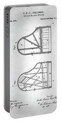 Portable Battery Charger featuring the digital art Steinway Grand Piano Patent by Taylan Apukovska