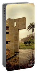 Portable Battery Charger featuring the photograph Stelae In The Park - Miraflores Peru by Mary Machare