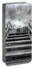 Portable Battery Charger featuring the photograph Step On Up by Linda Lees
