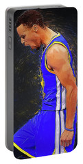 Steph Curry Portable Battery Charger by Semih Yurdabak